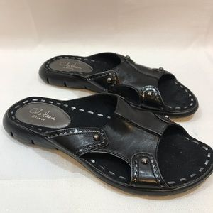 Cole Haan G Series Nike Black leather sandals 7B